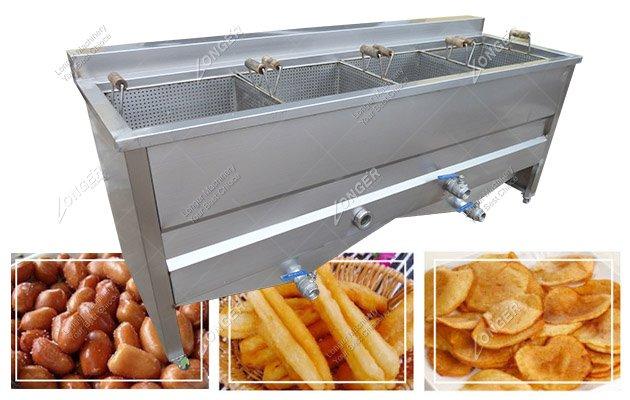 4 Basket Commercial Fried Peanut Deep Fryer For Sale